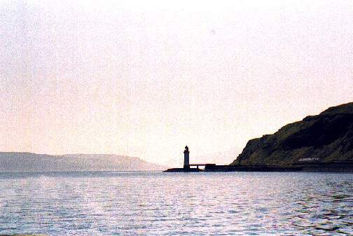 The lighthouse at the entrance of the Sound of Mull